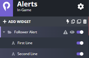 alert settings for player.me